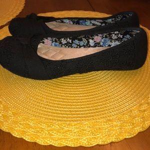 Slip on black shoes